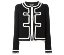 Tweed-Jacke mit Kontrastbesatz