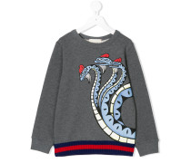 logo print sweatshirt with Web