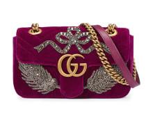 Mini 'GG Marmont' Schultertasche mit Kristallen