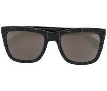Sonnenbrille mit Gittermuster