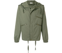 zipped parka jacket