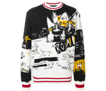 royal print sweatshirt