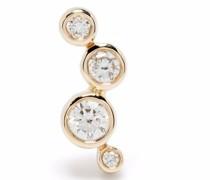 14kt yellow  Hepburn diamond stud earring