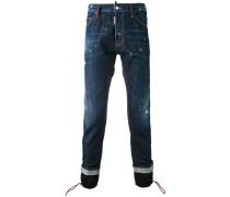 Jeans mit Kordelzug am Saum