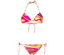 Bikini mit Print - women - Polyamid/Elastan - 38