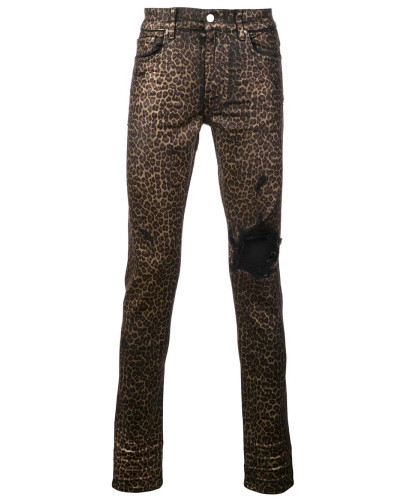 Jeans mit Leopardenmuster
