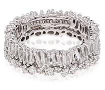 18kt white gold baguette diamond ring