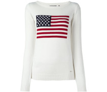 Intarsien-Pullover mit USA-Flagge