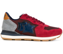 panelled star sneakers