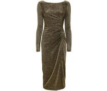 Drapiertes Metallic-Kleid
