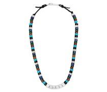 Halskette mit Steinen und Perlen