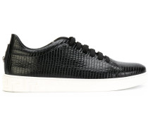 lizard-embossed sneakers