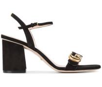 Sandalen mit GG-Logo - women - Leder/Wildleder