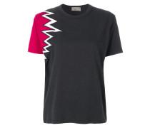 T-Shirt mit mit Zickzackeinsatz