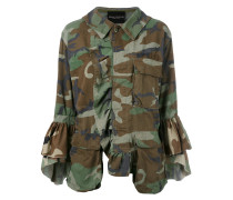 Military-Jacke mit Camouflage-Muster