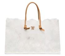 Handtasche mit Details in Spitzenoptik