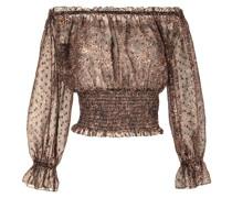 Schulterfreies Kleid mit Leoparden-Print