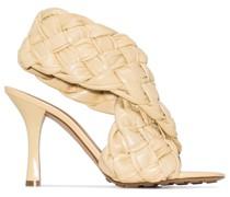 Sandalen mit geflochtenen Details, 90mm