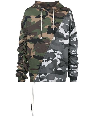 Kapuzenpullover mit Camouflage-Print