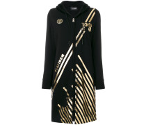foil detail zipped coat