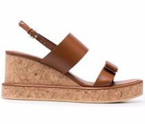 Wedge-Sandalen mit Vara-Schleife