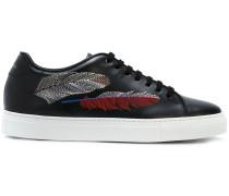 Sneakers mit Feder-Print