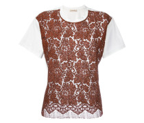 T-Shirt mit Spitzeneinsatz