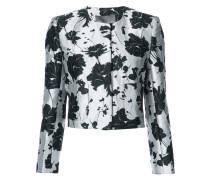 Jacquard-Jacke mit floralem Print