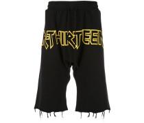 Ausgefranste Jersey-Shorts