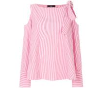 striped cold shoulder shirt