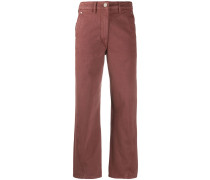 Twisted straight-leg trousers