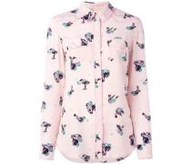 Seidenhemd mit Vogel-Print