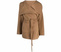 belted knitted coat