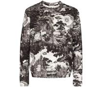 Sweatshirt mit durchgehenden Print