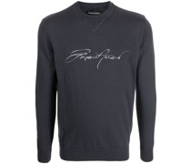 Pullover mit Autogramm-Print