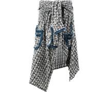 Asymmetrischer Tweed-Rock - women