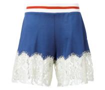 Shorts mit Spitzenbesatz - women