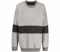 Gestreifter Distressed-Pullover