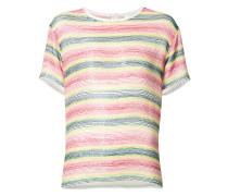 beaded striped T-shirt - women