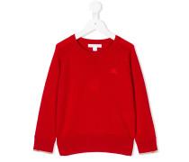 logo embroidered cashmere jumper