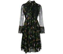 Gerüschtes Kleid mit Tukan-Print