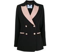 two-tone double-breasted blazer