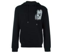 bunny print hoodie