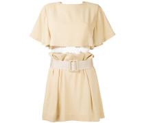 Kleid mit Gürtel - women - Polyester/Acetat - 38