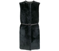 sleeveless shearling jacket