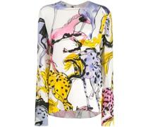 Bluse mit Pferde-Print