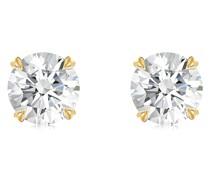 18kt Gelbgoldohrstecker mit Diamanten