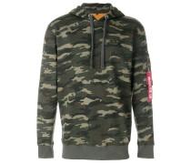 camouflage pocket detail hoodie