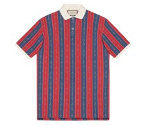 Oversized-Poloshirt mit Print