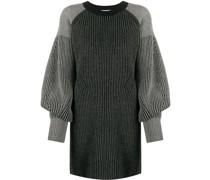 Geripptes Pulloverkleid